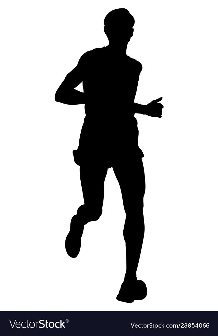 Dynamic running marathon athlete
