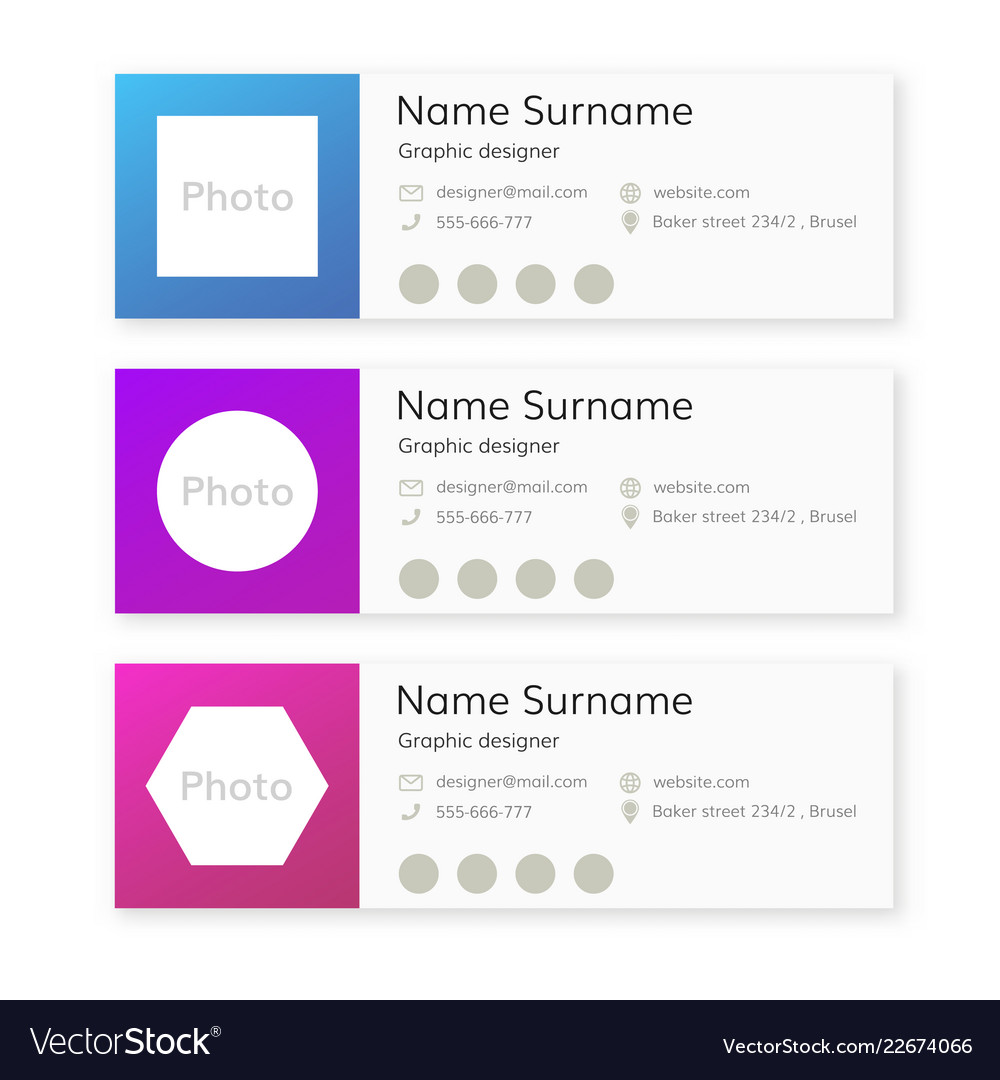 Email Signature Template Royalty Free Vector Image