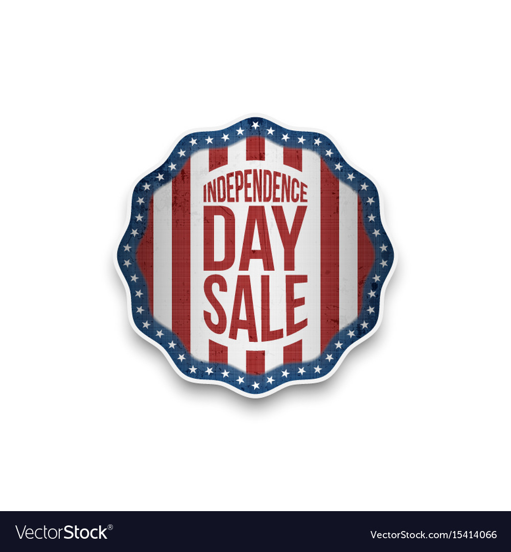 Independence day sale banner in realistic style