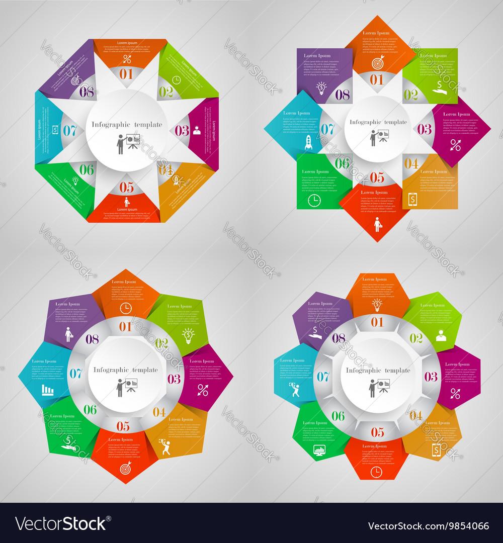 Infographic circles set