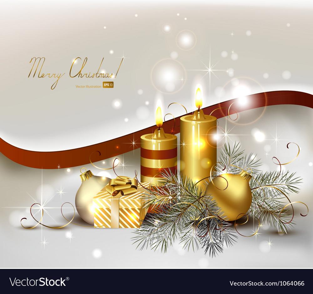 Light Christmas background vector image