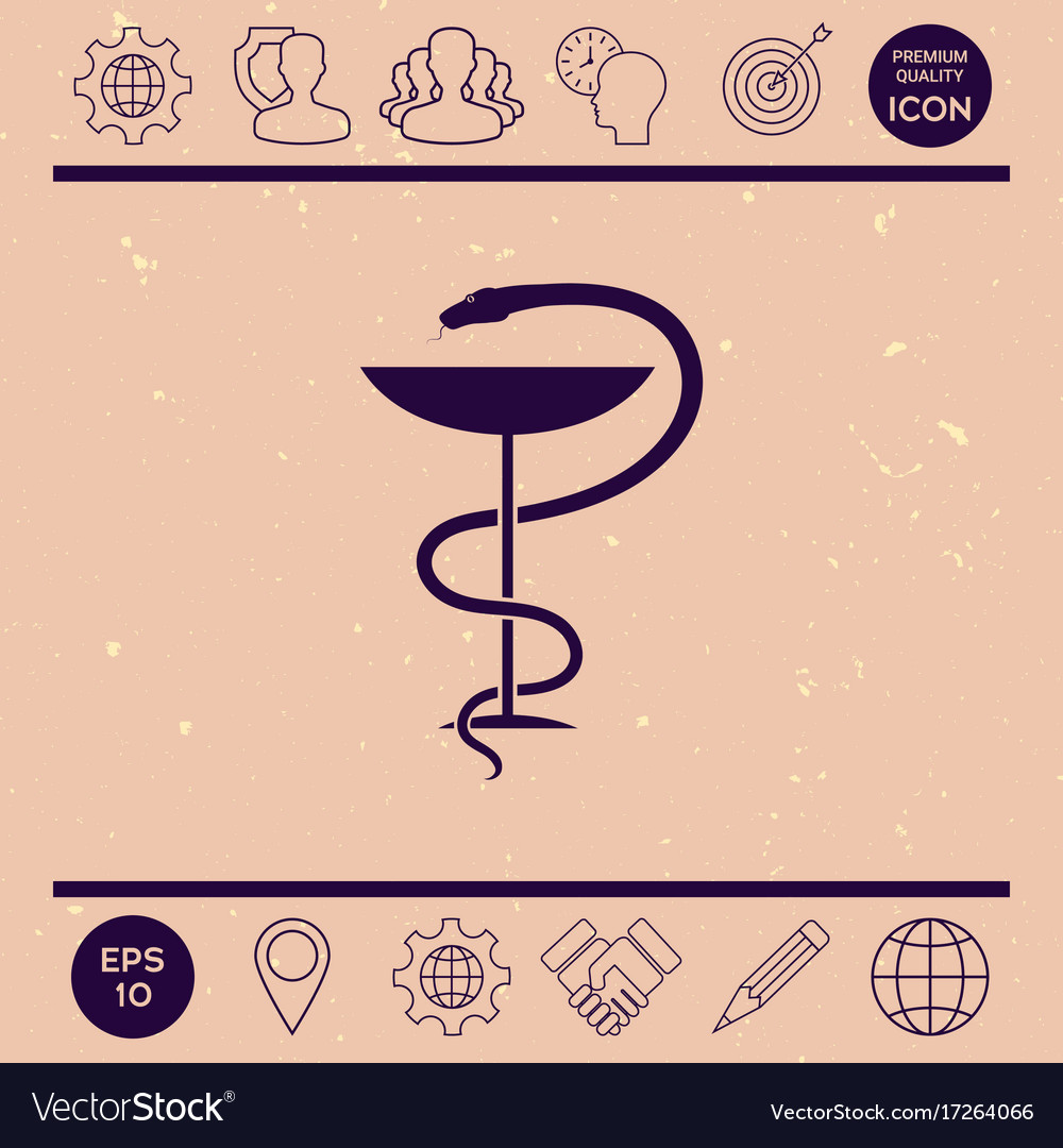 Pharmacy Symbol Medical Snake And Cup Royalty Free Vector