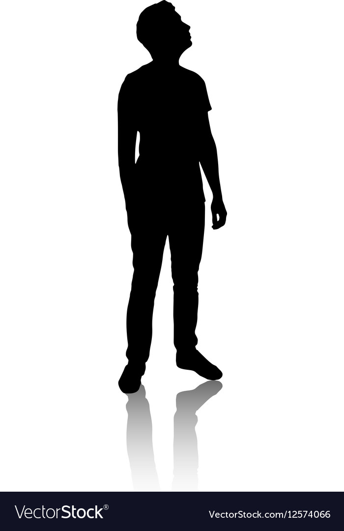 mypuzzledesign business man standing silhouette in - 700×1080