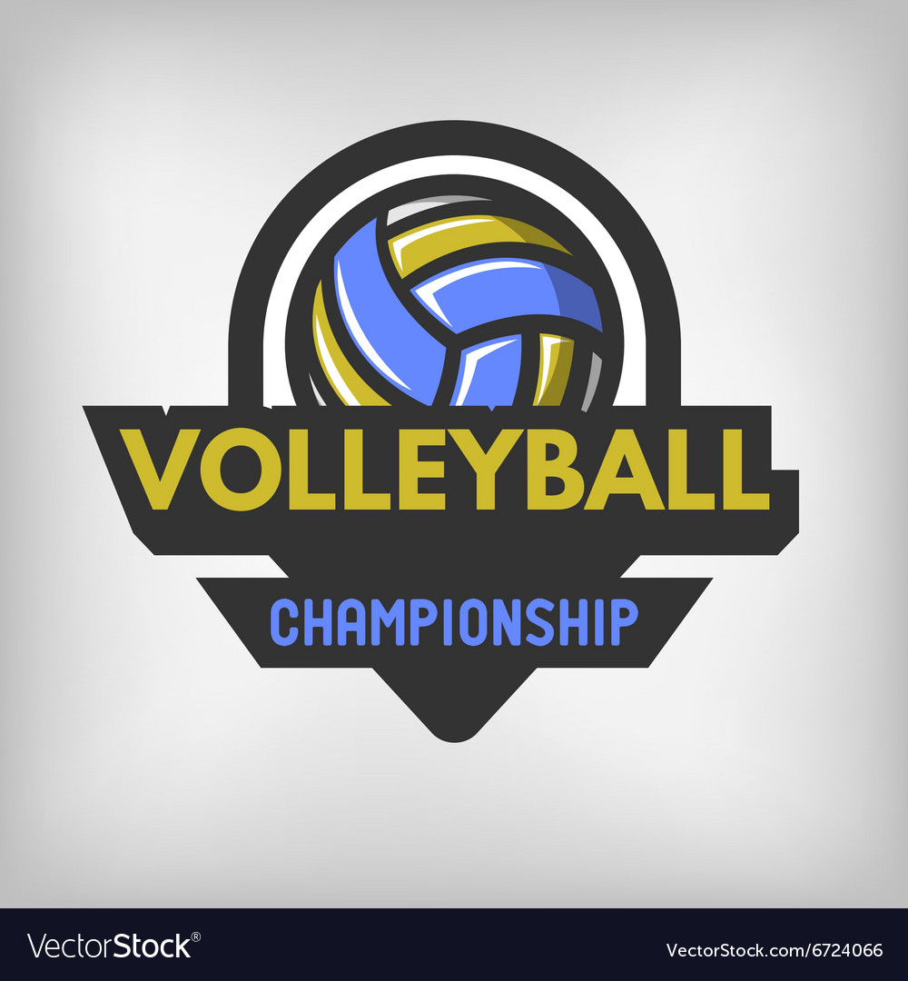 Volleyball sports logo vector image
