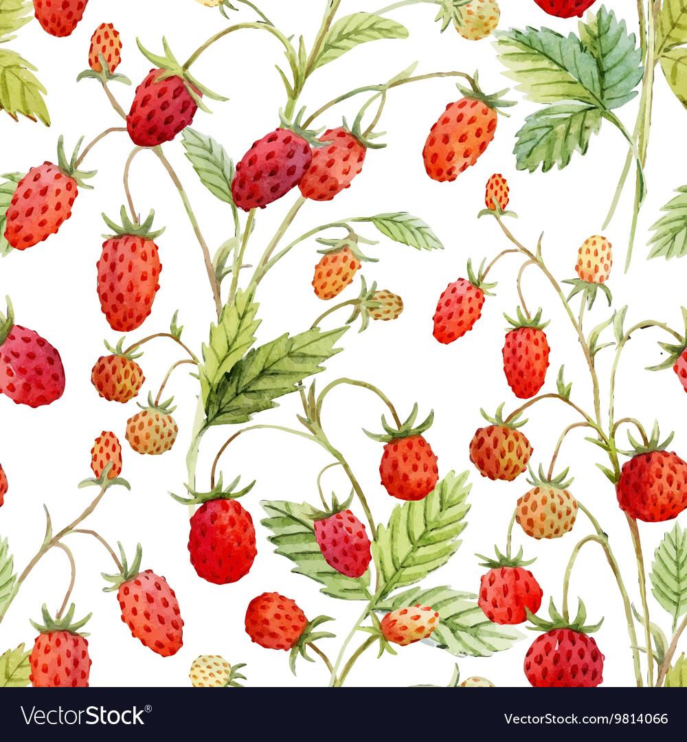 Watercolor strawberry pattern