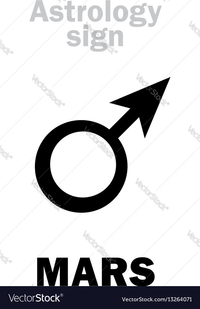 Astrology Planet Mars Male Royalty Free Vector Image