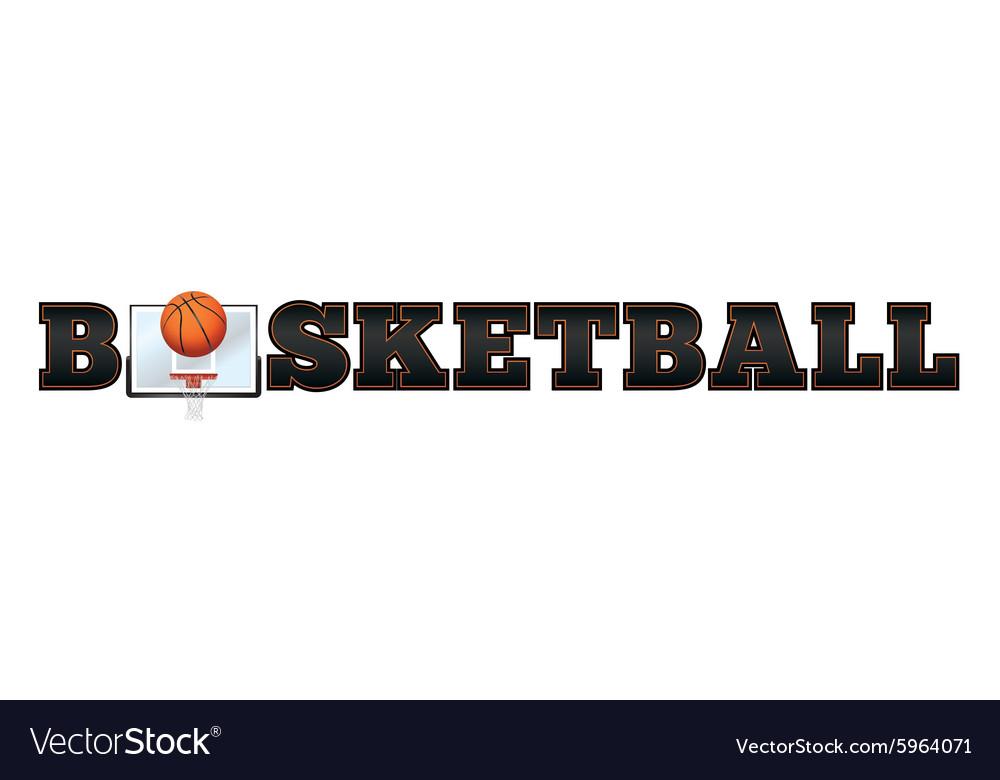 basketball word art royalty free vector image vectorstock