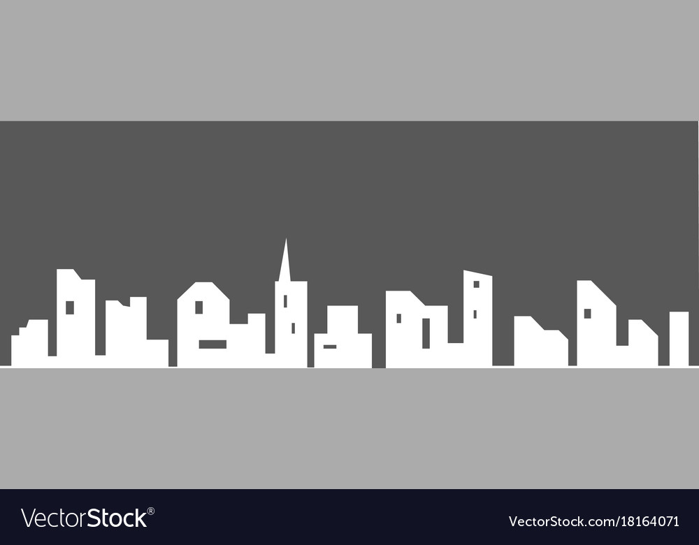 City silhouette with windows