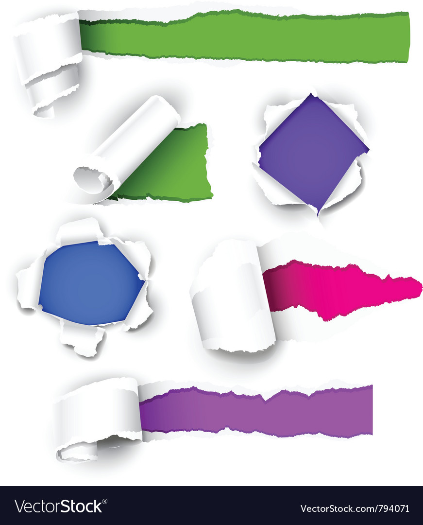 Colour paper vector image