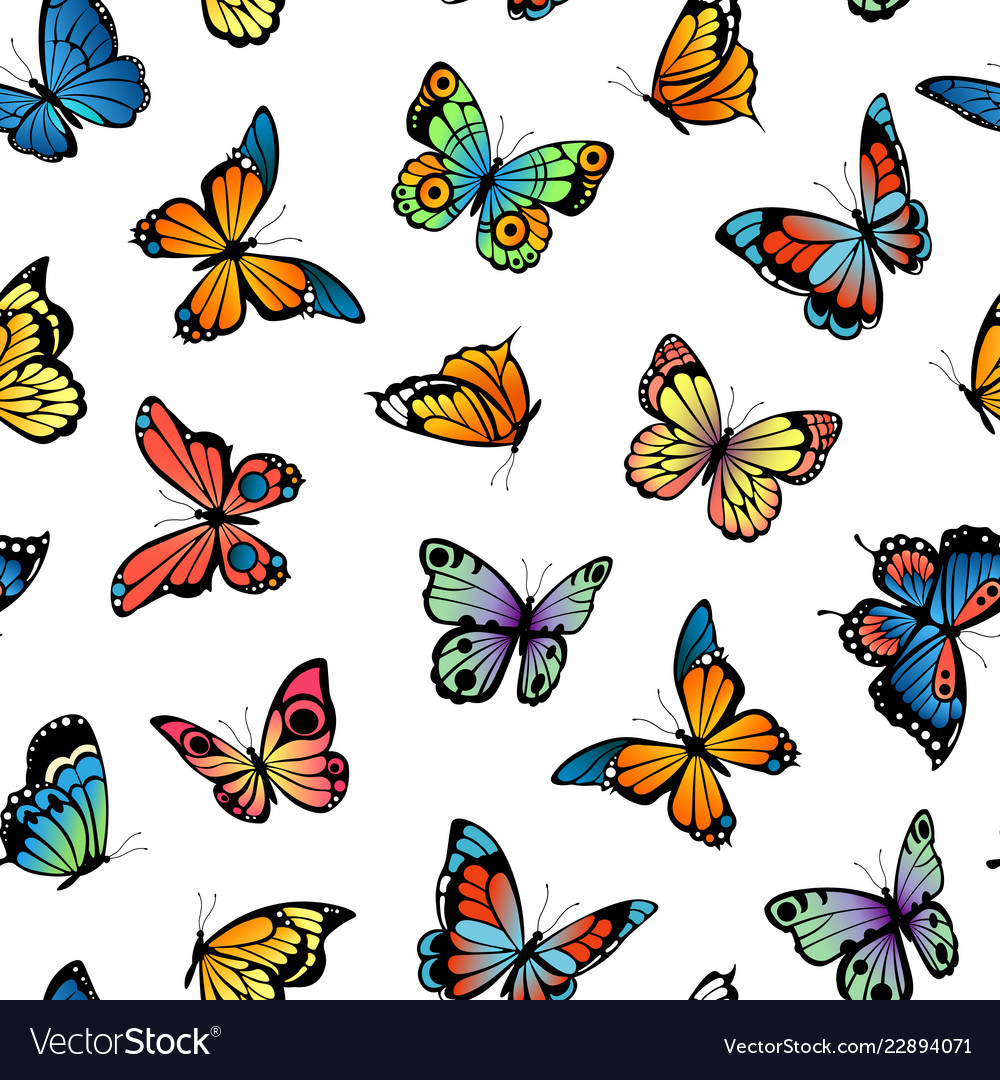 Decorative butterflies pattern or