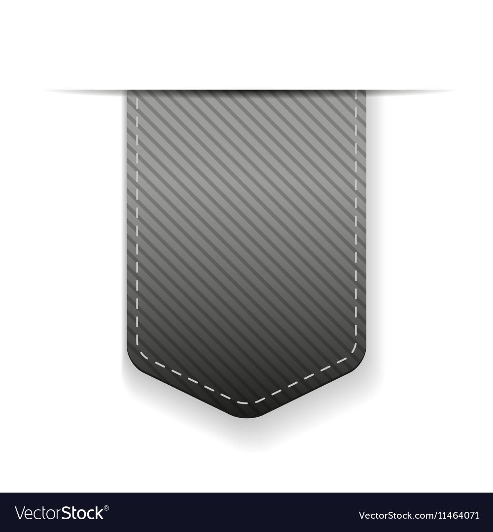 Empty grey ribbon isolated vector image