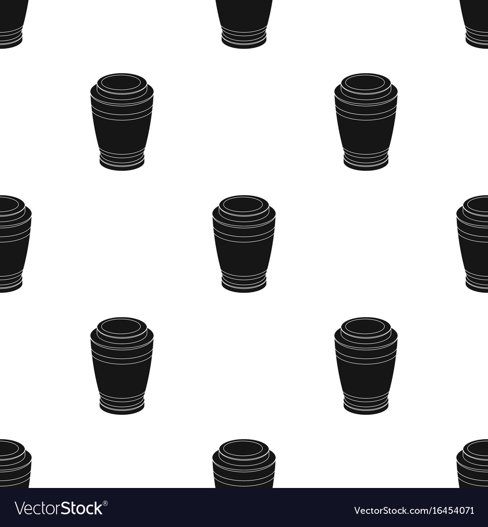 Funeral urns icon in black style isolated on white