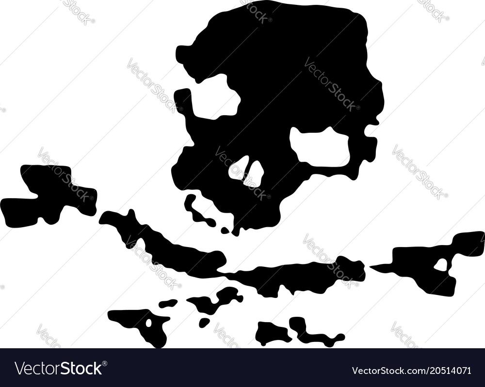 Grunge black pirate skull