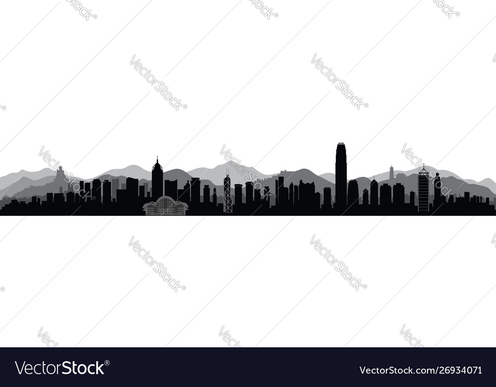 Hong-kong city skyline with tourist attraction