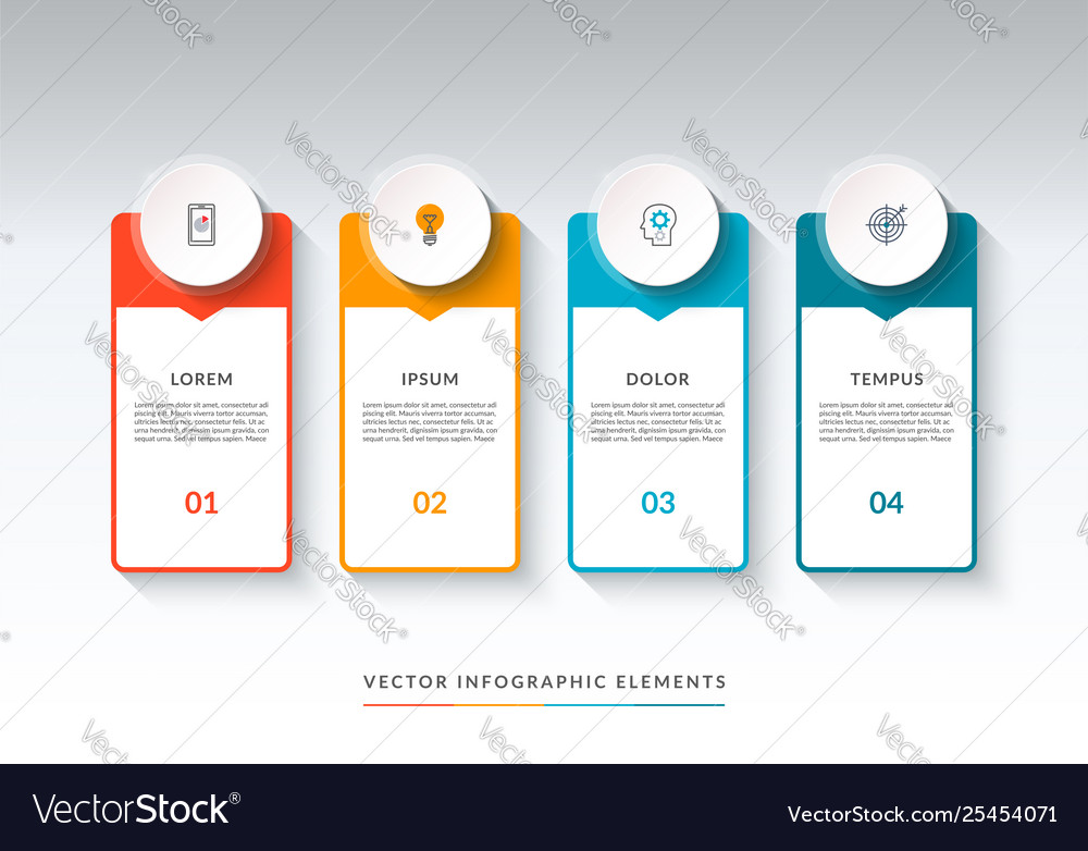 Infographic banner with 4 options template