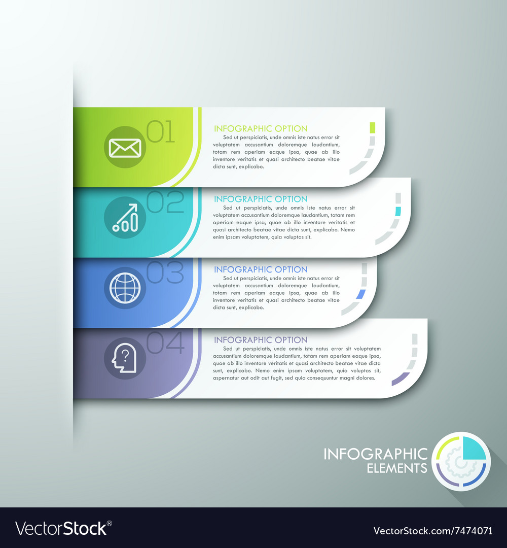 Modern paper infographics options banner