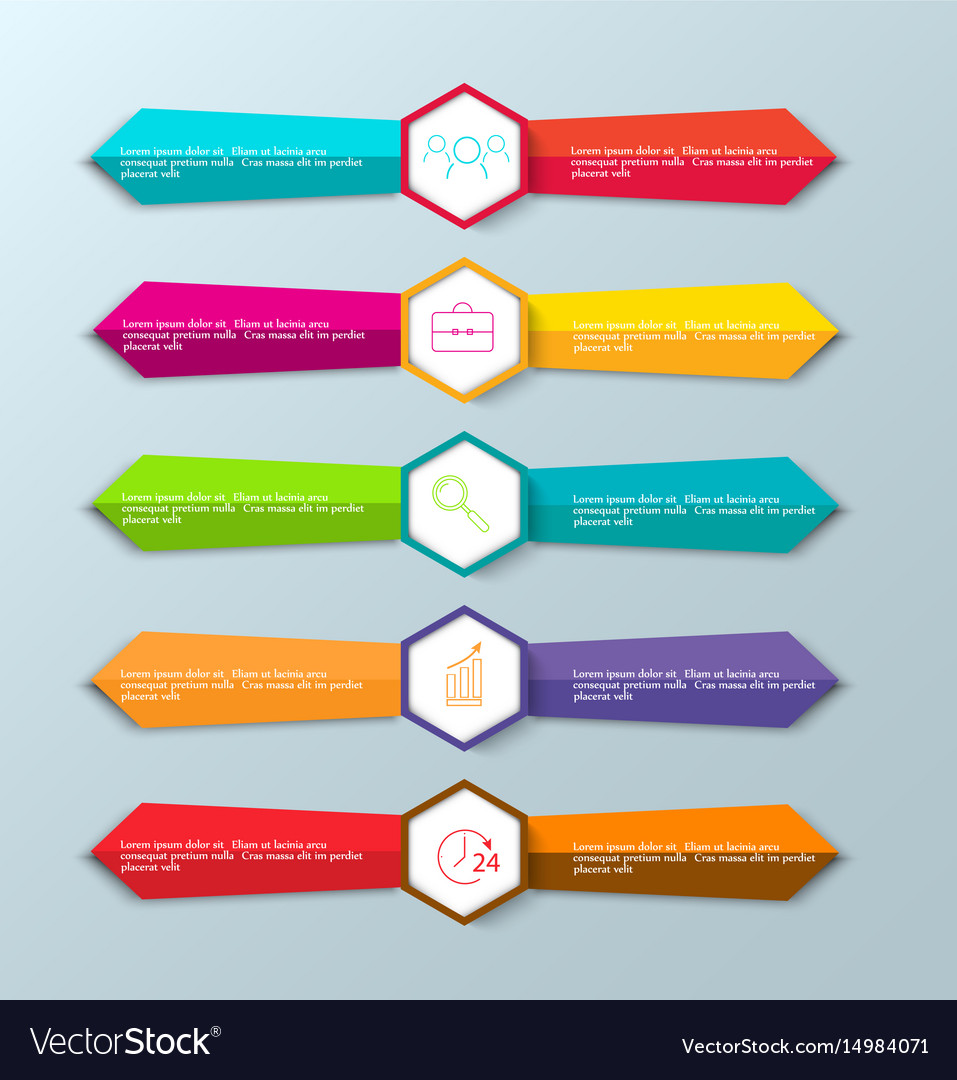 Paper banner design templates for your website or vector image