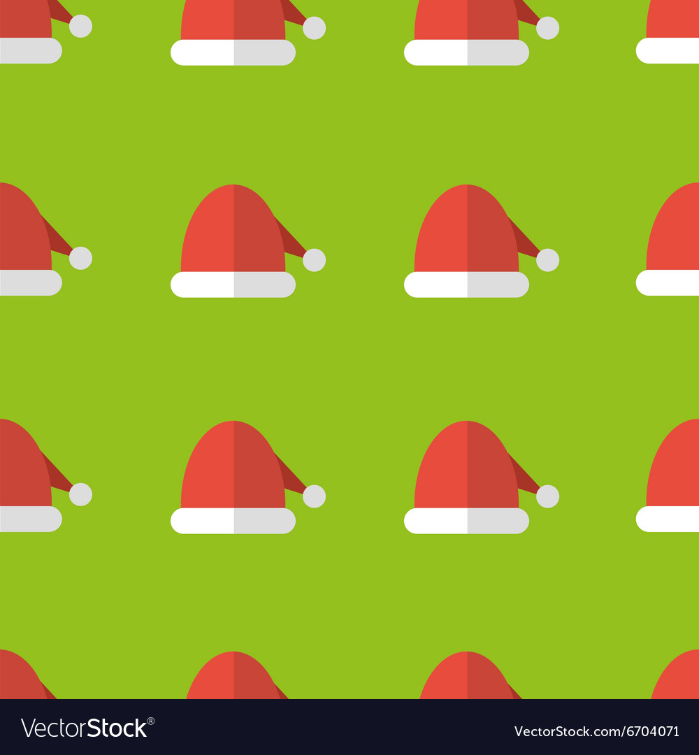 36f8ce8ecf564 Santa hats seamless pattern background Royalty Free Vector