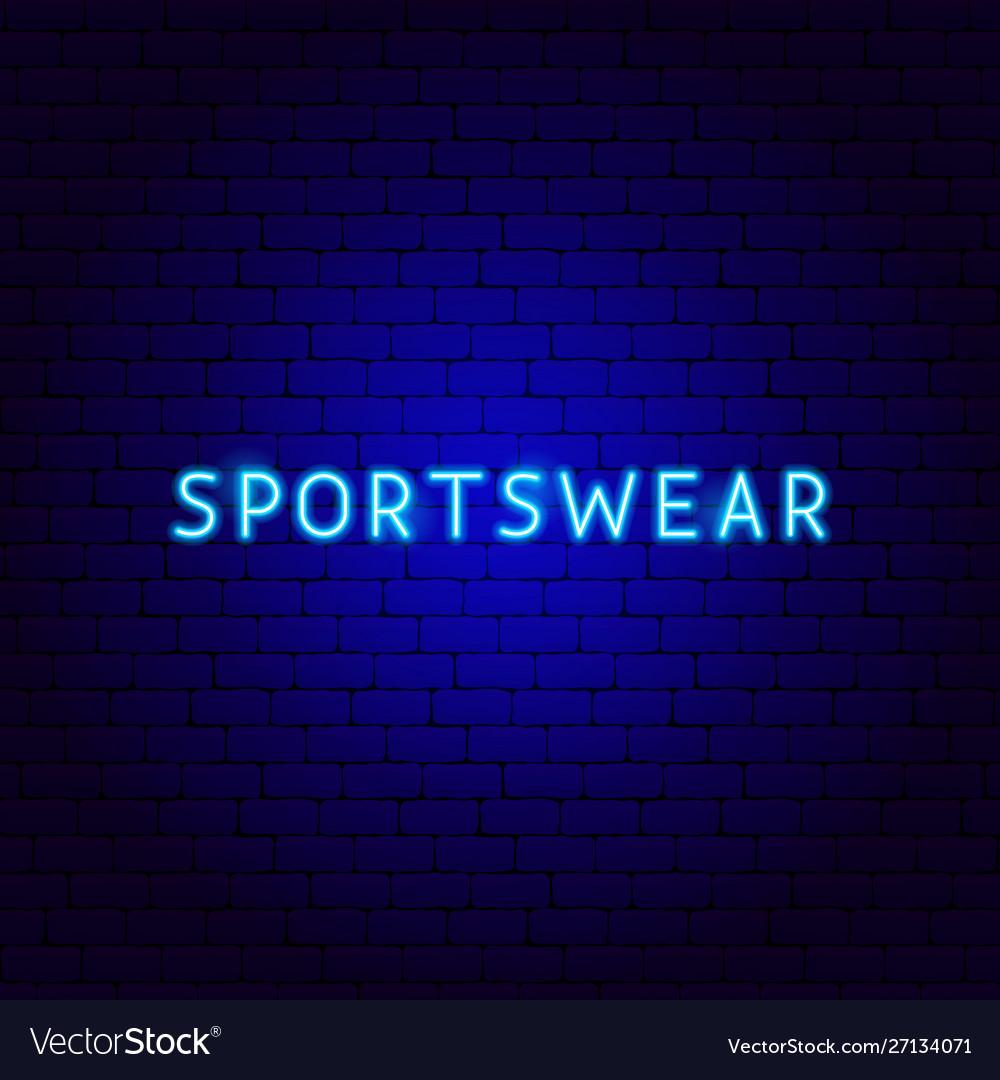 Sportswear neon text