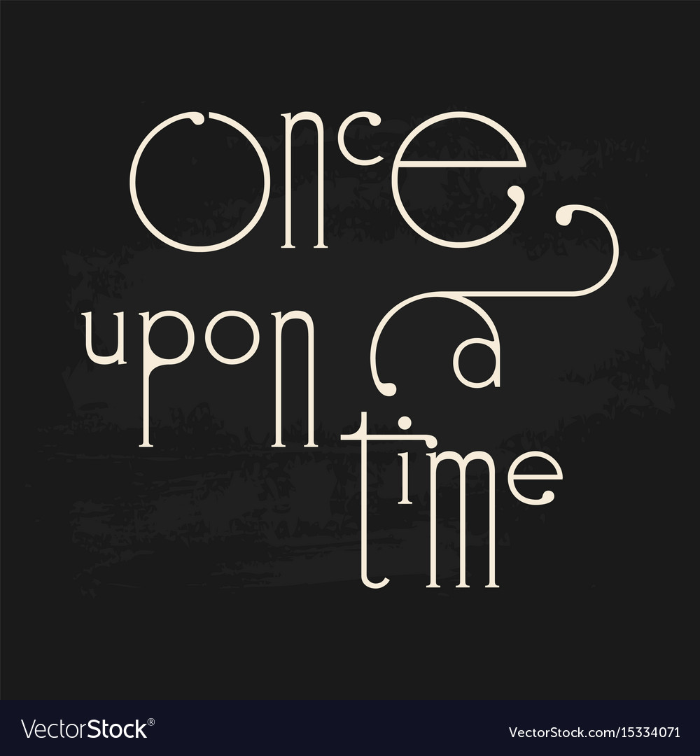 Story book fairytale once upon a time decorative vector image