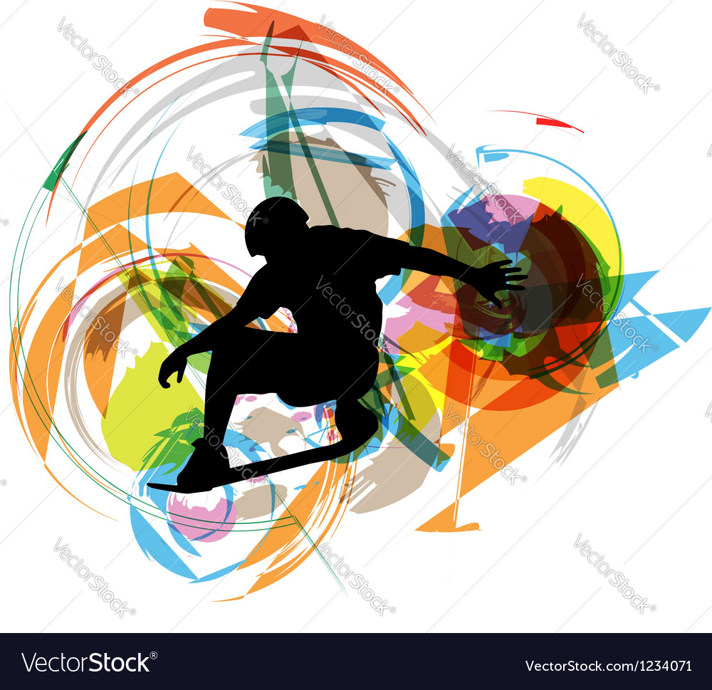 Wake boarder in action vector image