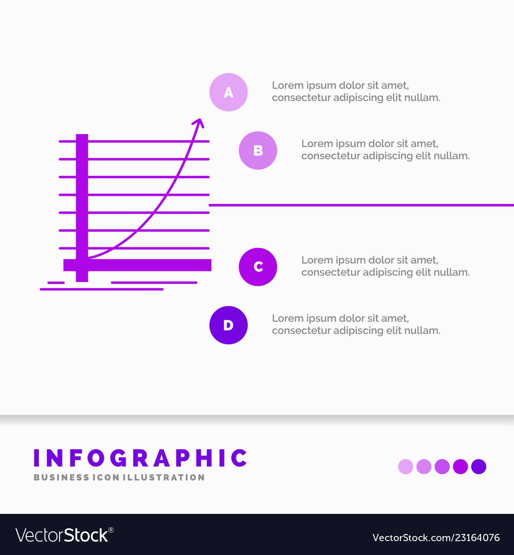 Arrow chart curve experience goal infographics