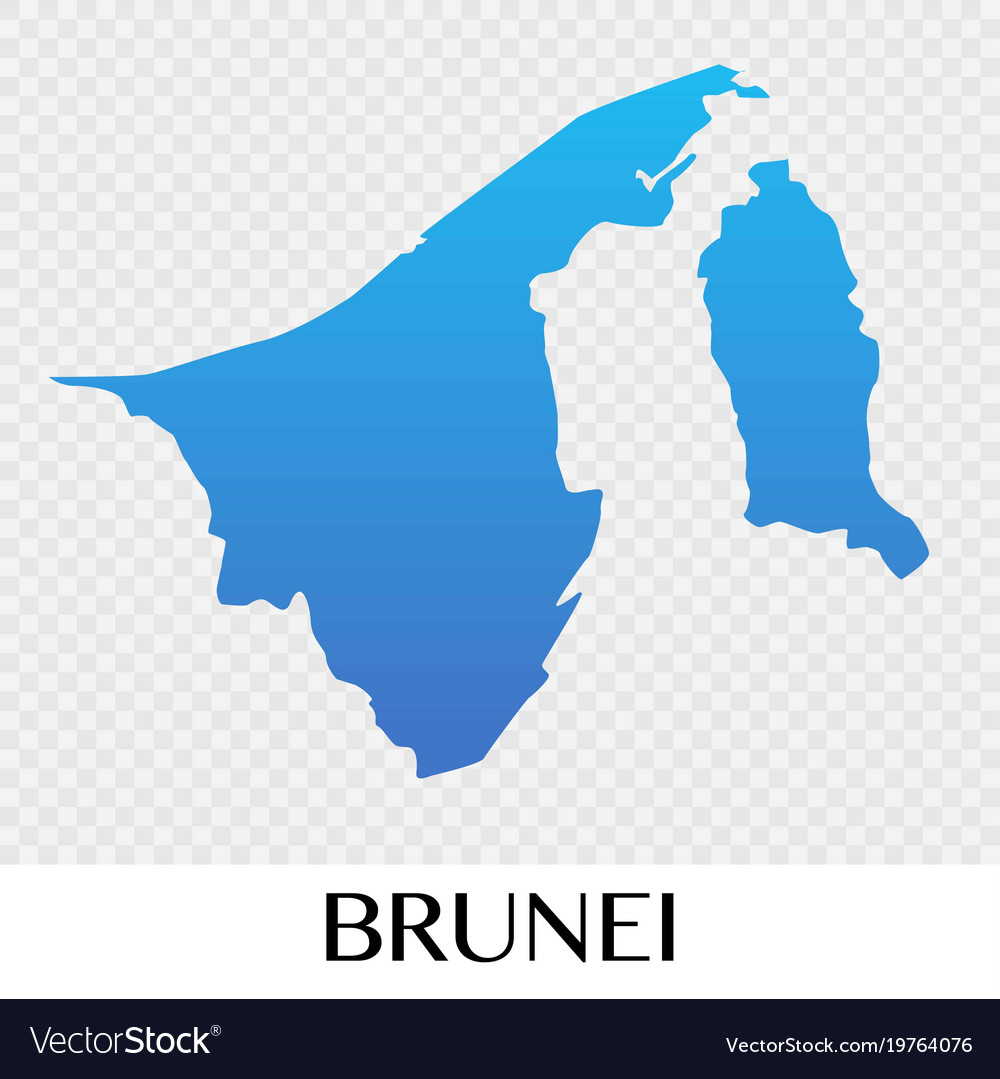Brunei Map In Asia Continent Design Royalty Free Vector