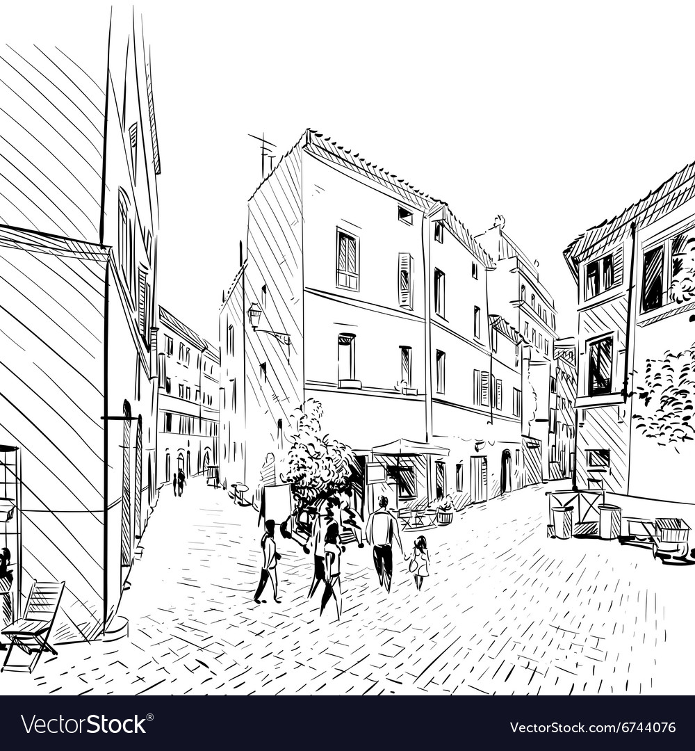 Cityscape Street sketch