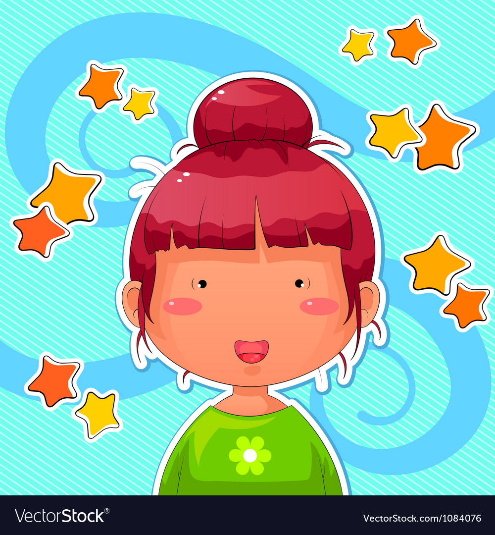Funny girl vector image