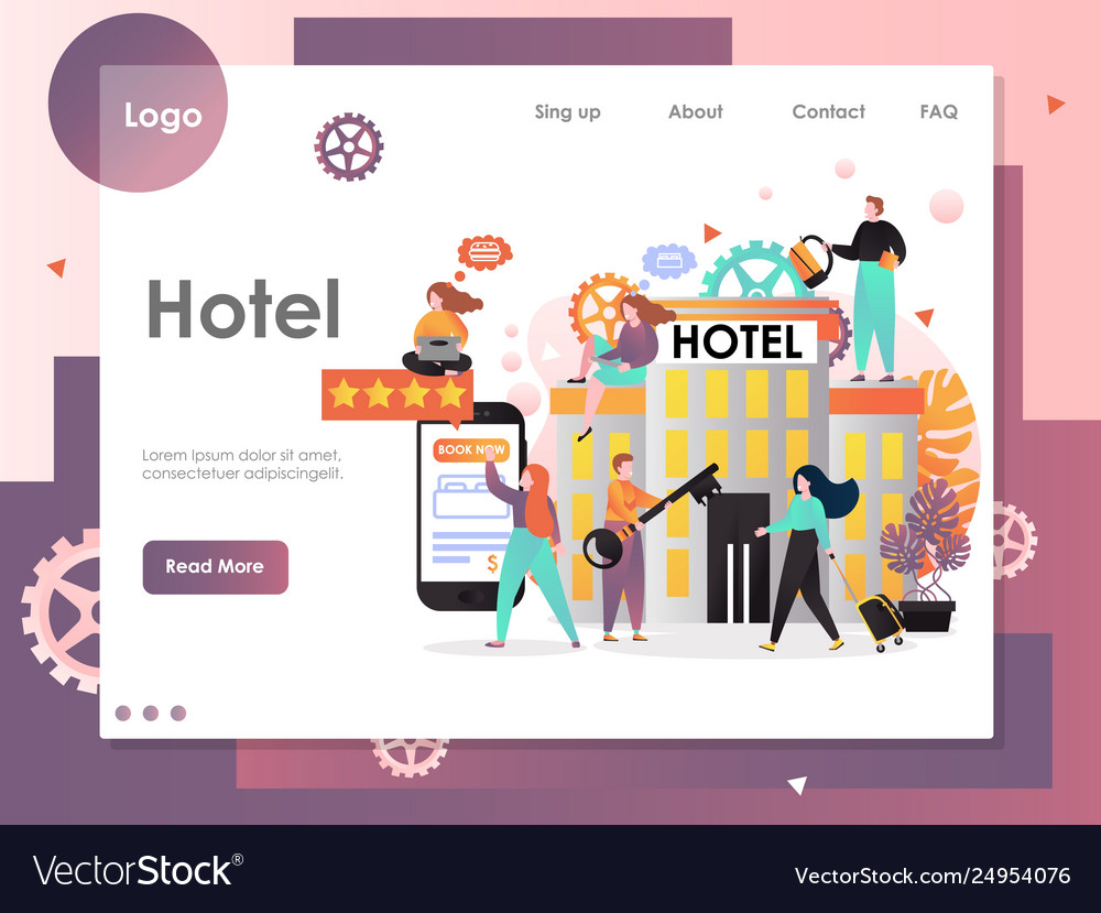 Hotel website landing page design template