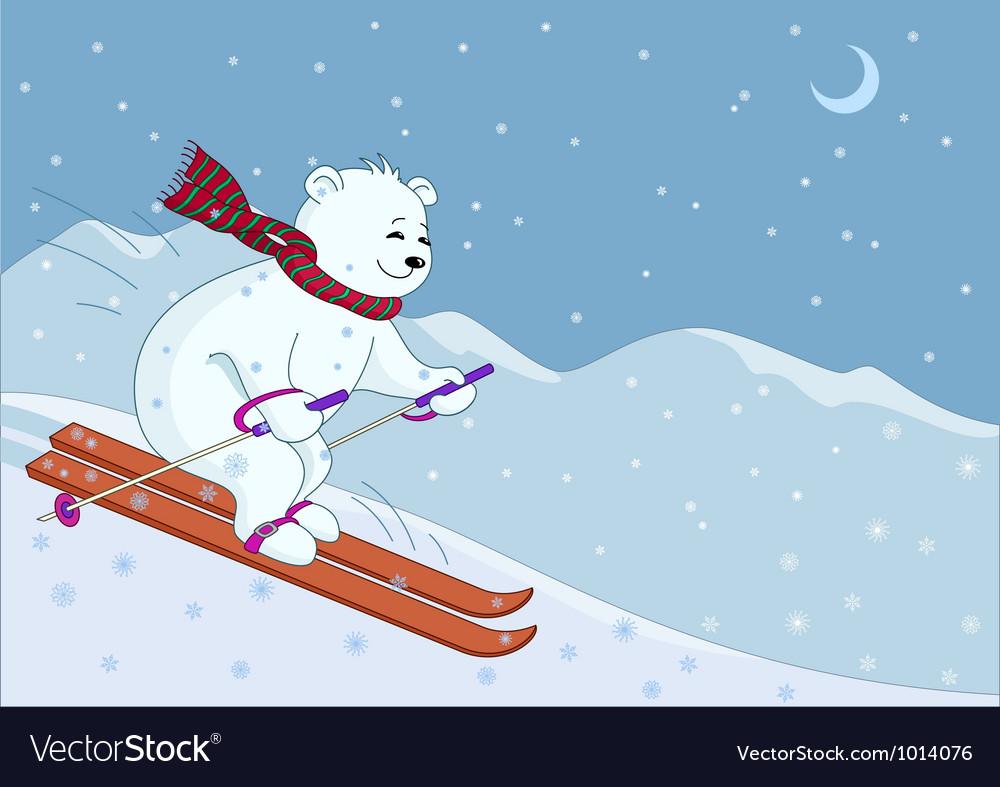 пятницу вечером мишка на лыжах с сердечком картинка многих наших