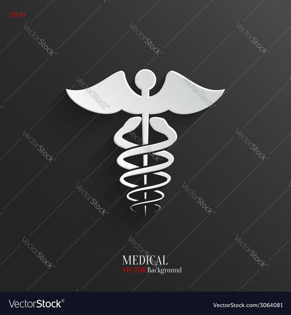 Caduceus Medical Symbol- white app icon