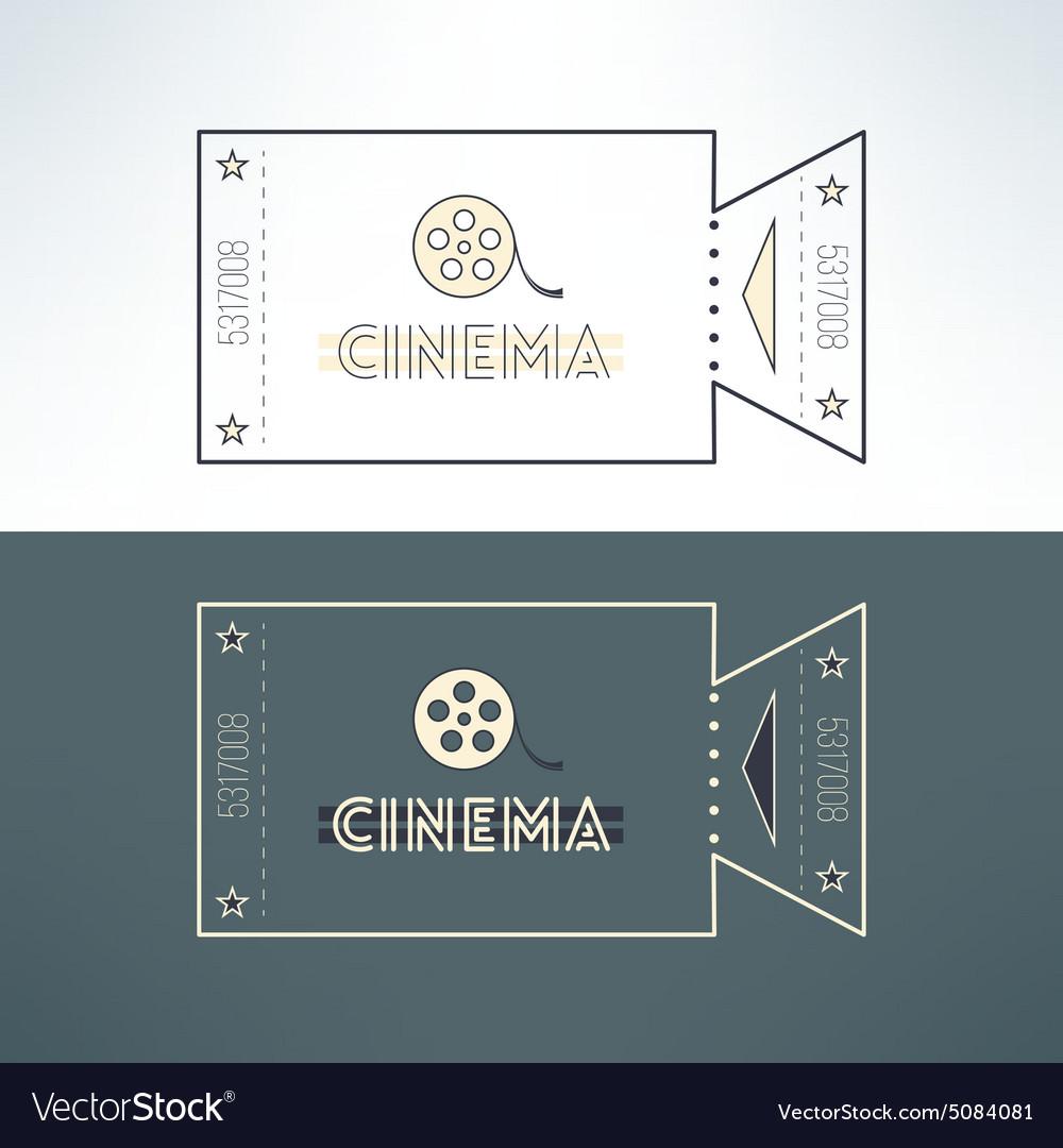 Entry cinema ticket in modern flat design