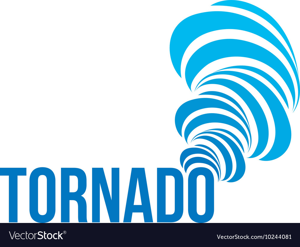 isolated tornado logo spinning air royalty free vector image