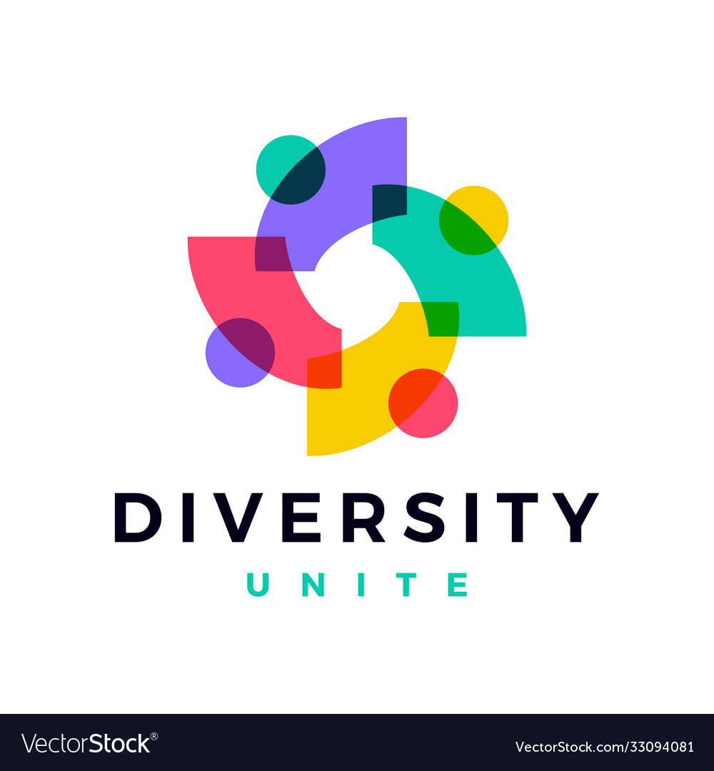 People family diversity colorful logo icon