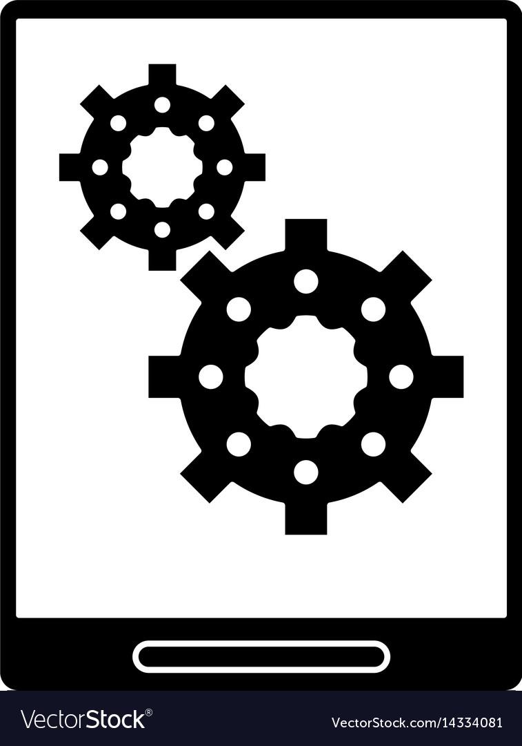 Silhouette tablet device technology digital gears