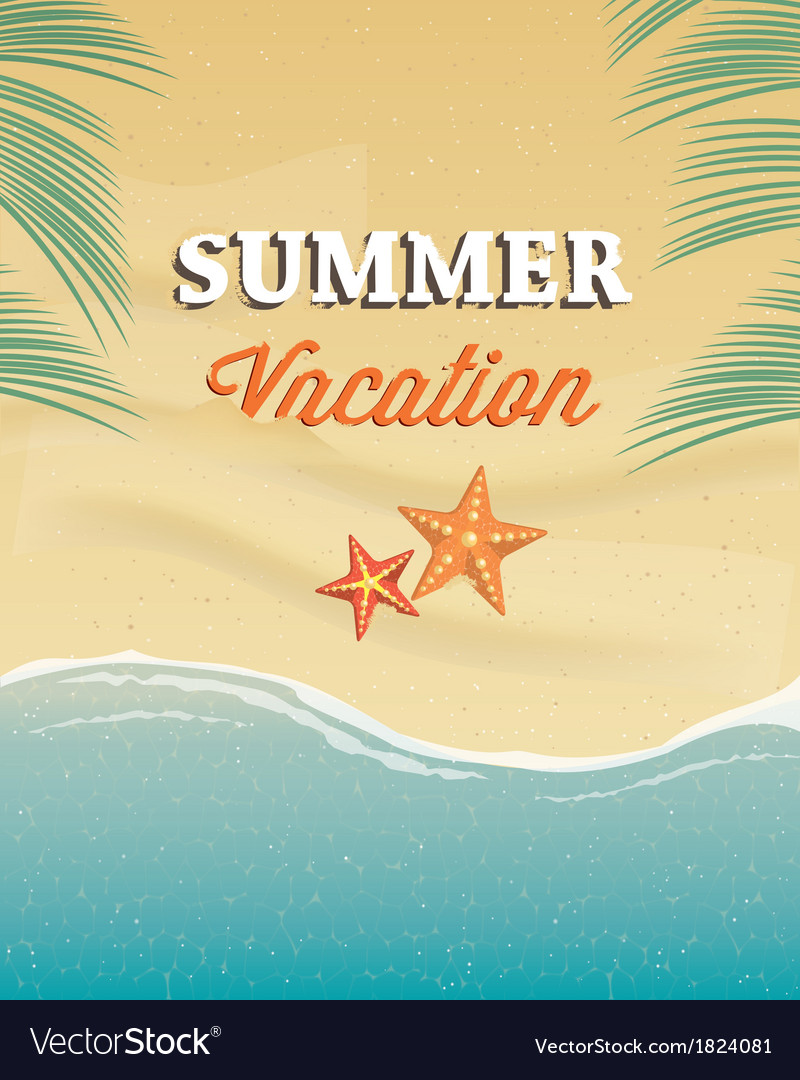 Summer vacation greeting card Royalty Free Vector Image