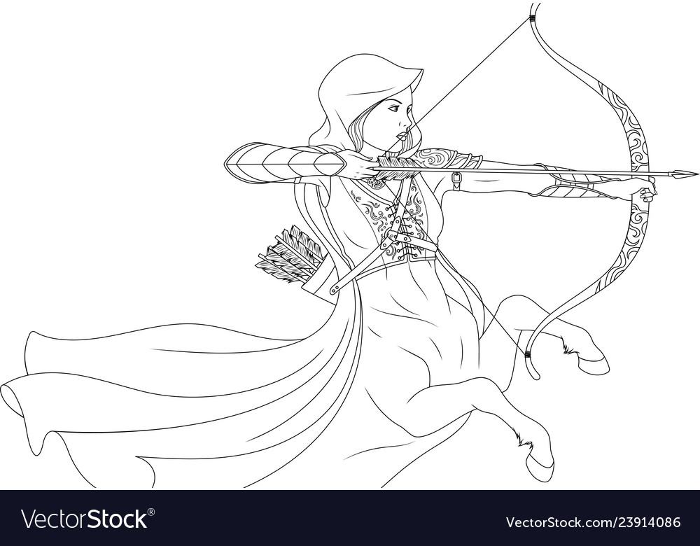 Beautiful woman warrior quentaur