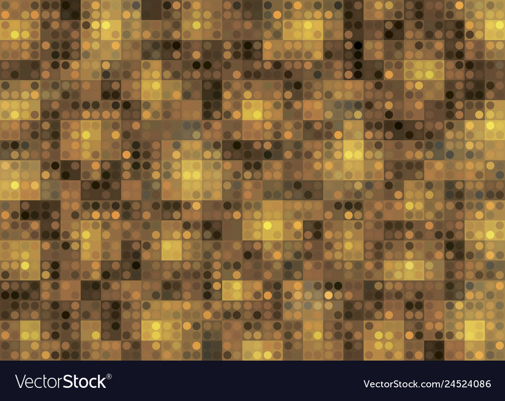 Gold abstract background with geometric shapes