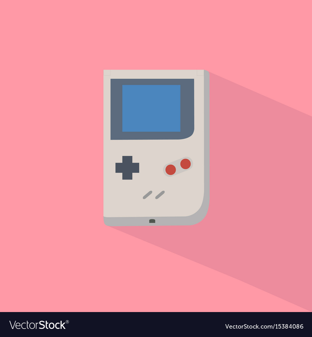 Retro game player with pastel background