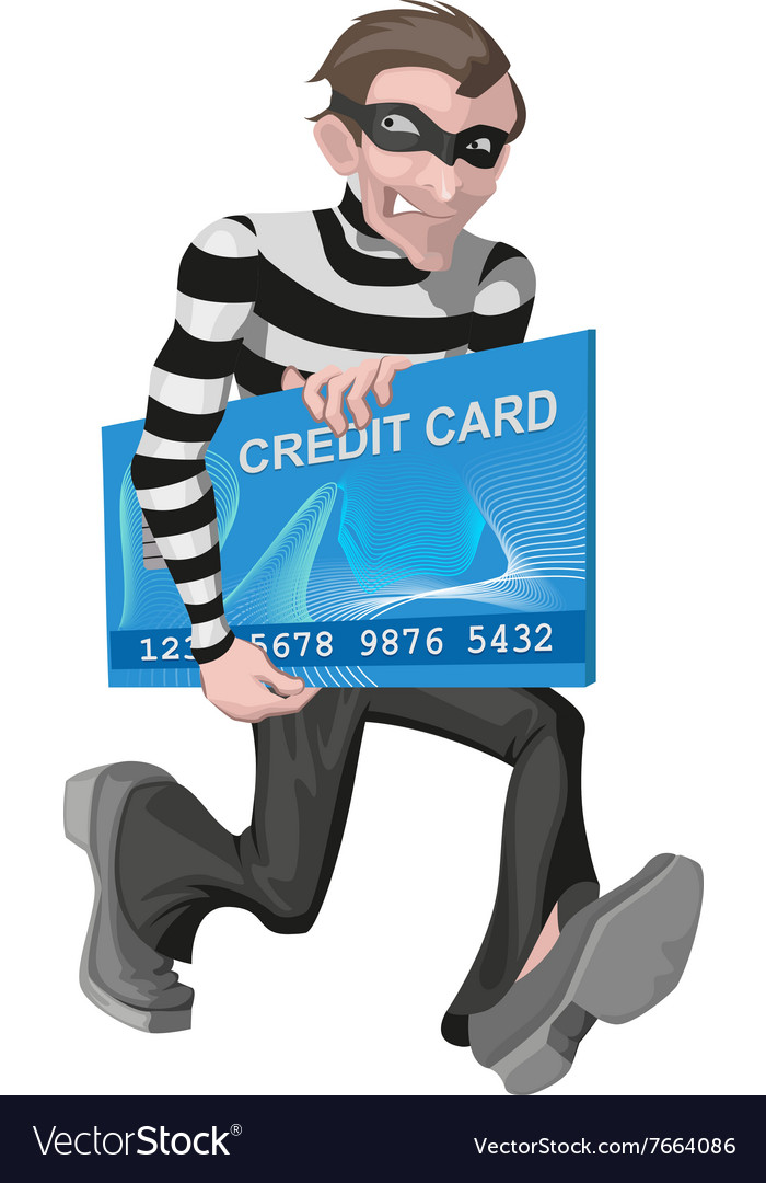 Robber man stole credit card Stealing money