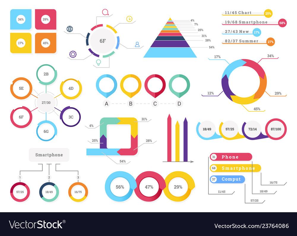 Set elements of infographics info bars graphycs