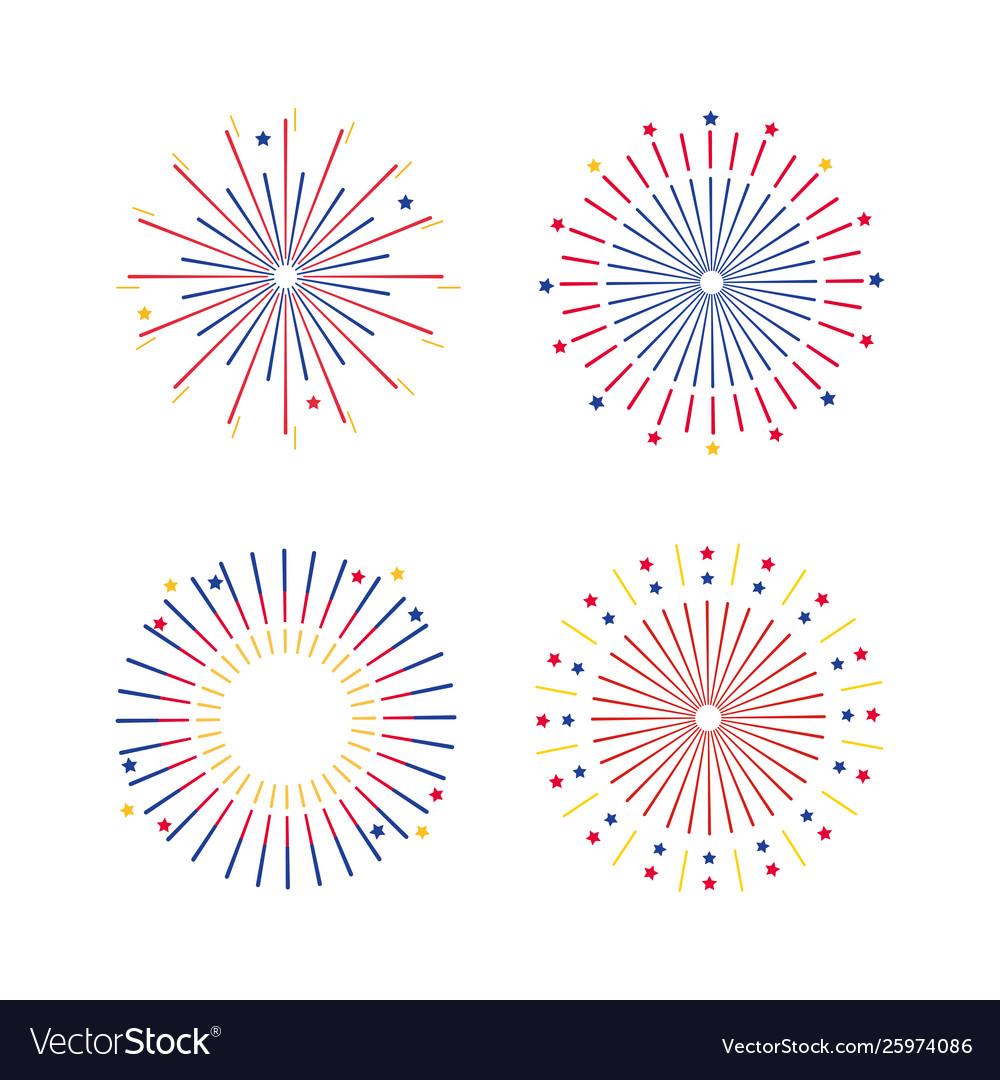 Set fireworks explotion to holiday celebration