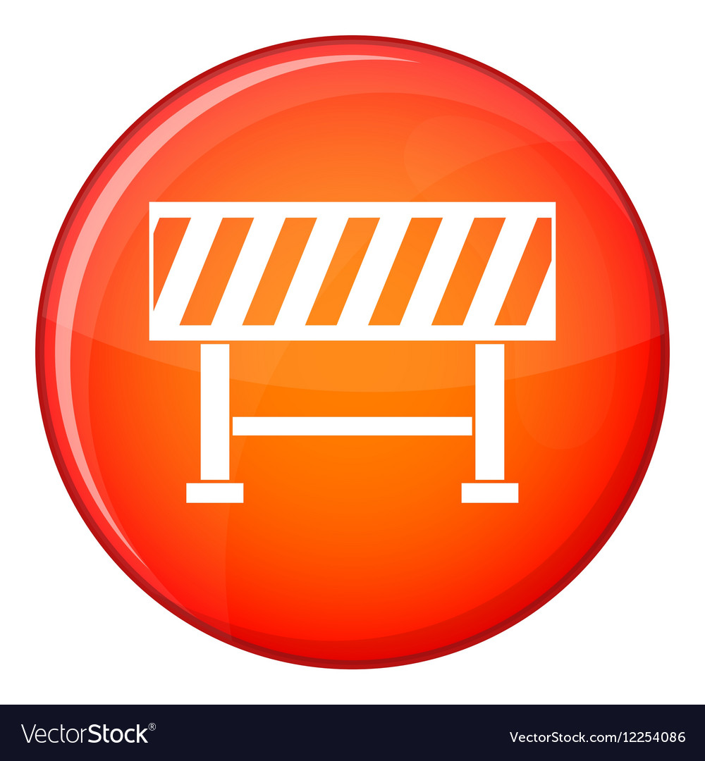 Traffic barrier icon flat style