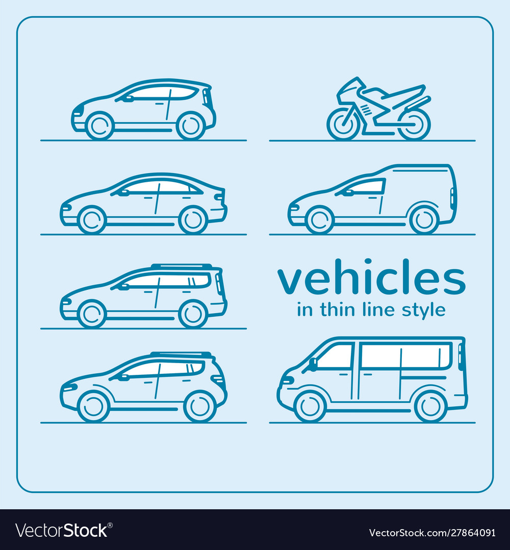 Car line icon set