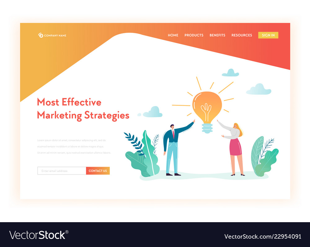 Creative idea and business solutions landing page