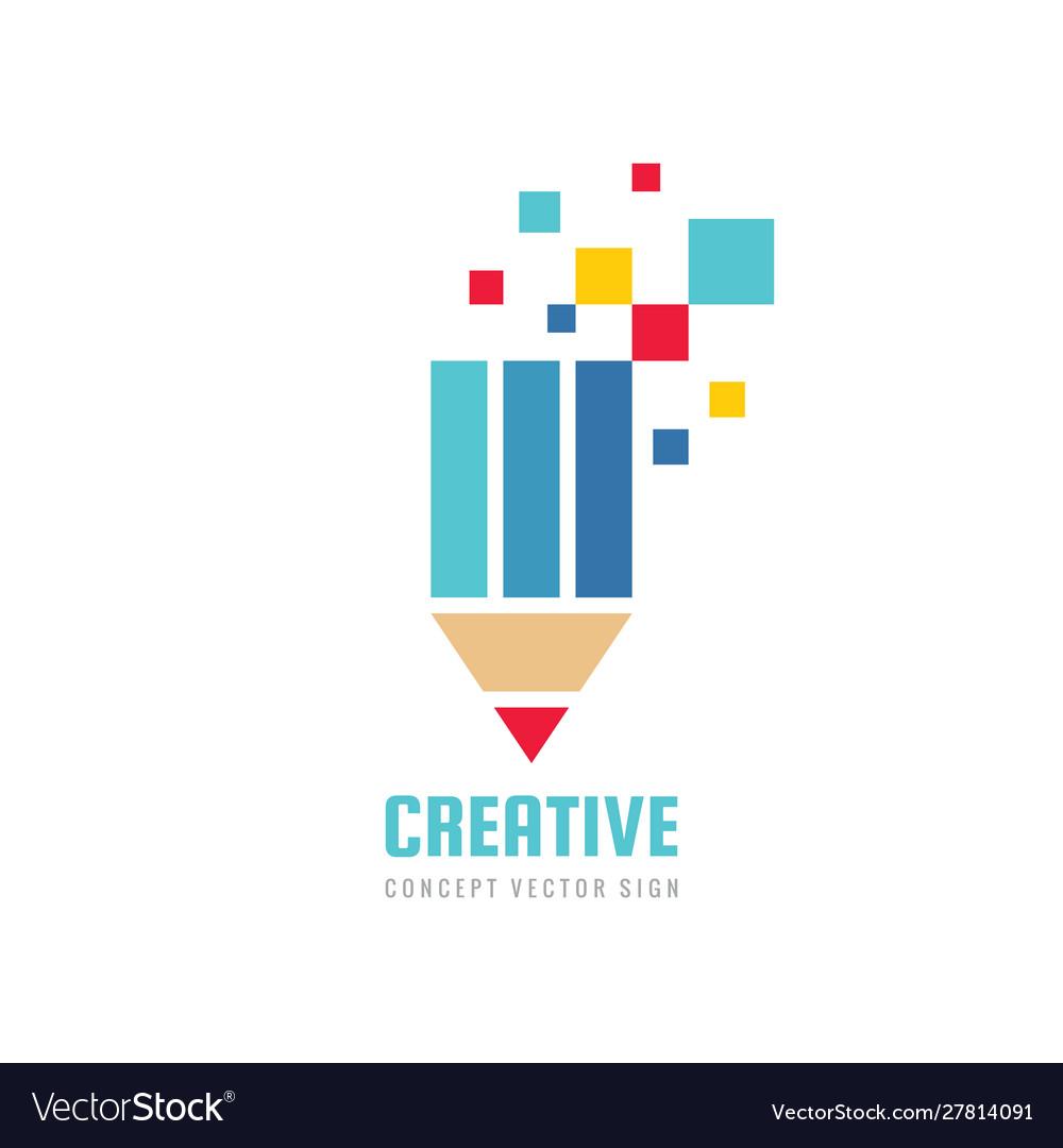 Creative idea inspiration - concept logo template