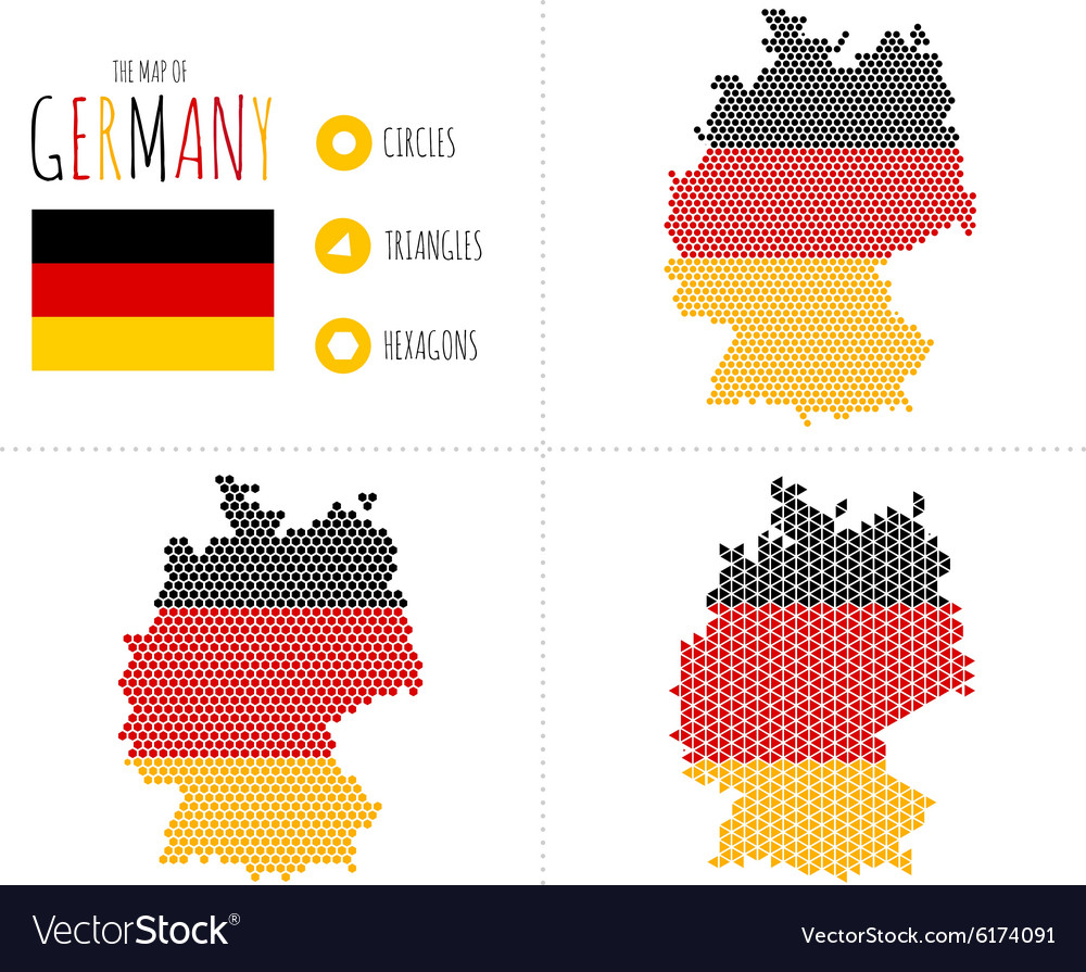 Germany Map in 3 Styles