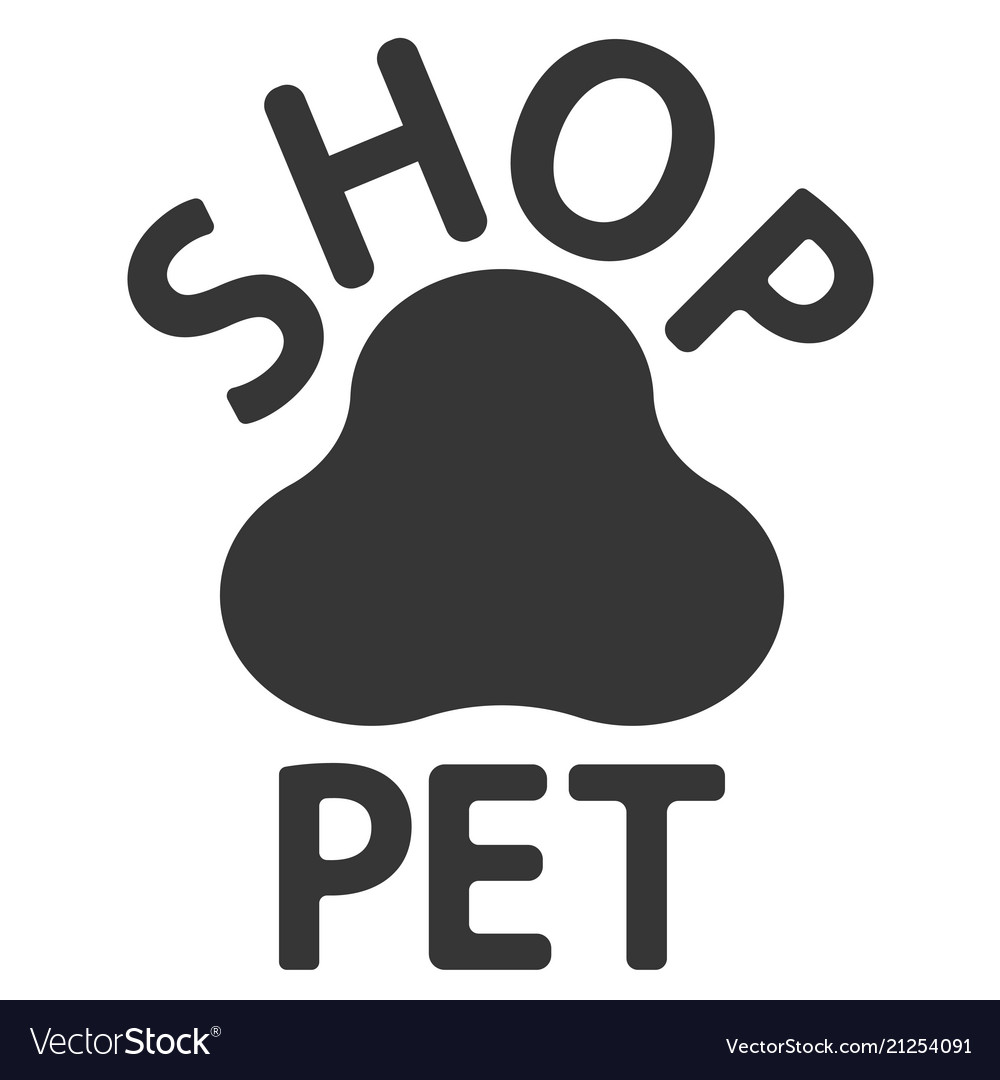 Logo of the pet shop paw track print