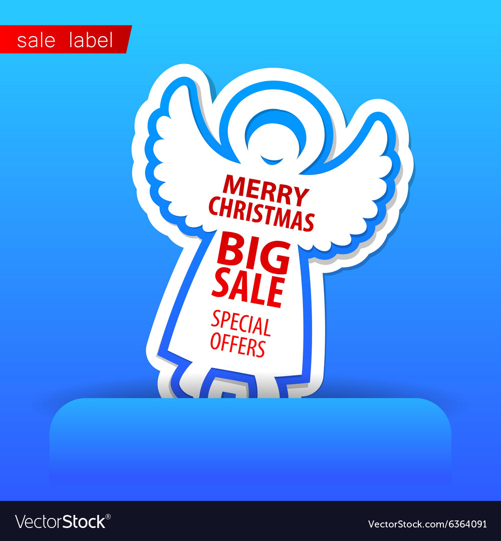 Merry Christmas sale vector image
